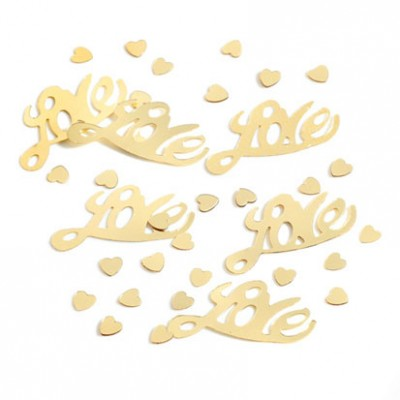 Gold LOVE confetti